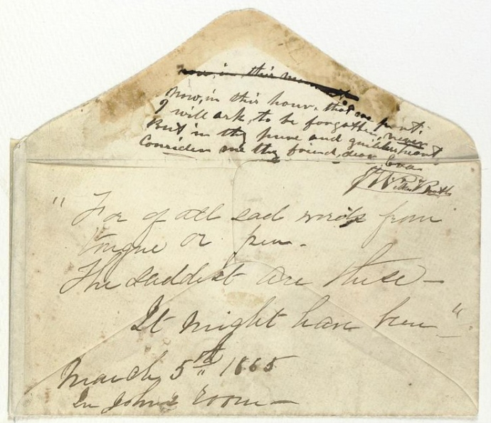 Booth Hale Poem Envelope 3-5-1865 Sotheby's