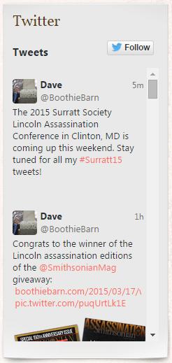 Twitter widget 2