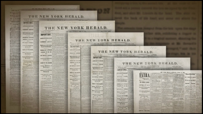 Seven Issues of New York Herald Newseum