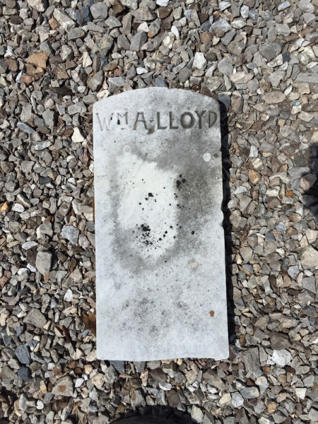The possible gravestone for William Lloyd, father of John M. Lloyd