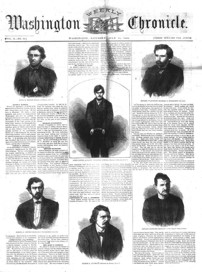 Washington Weekly Chronicle 7-15-1865
