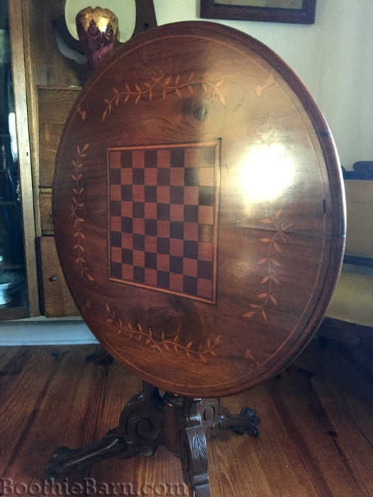 Dr Mudd's inlaid table