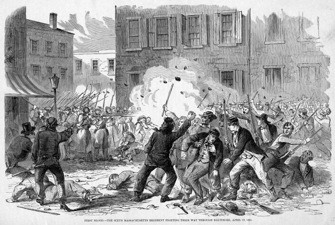 Baltimore Riot 1861 Harper's