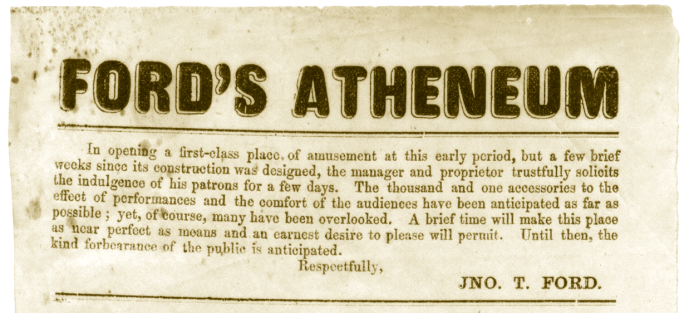 Ford's Atheneum 1862