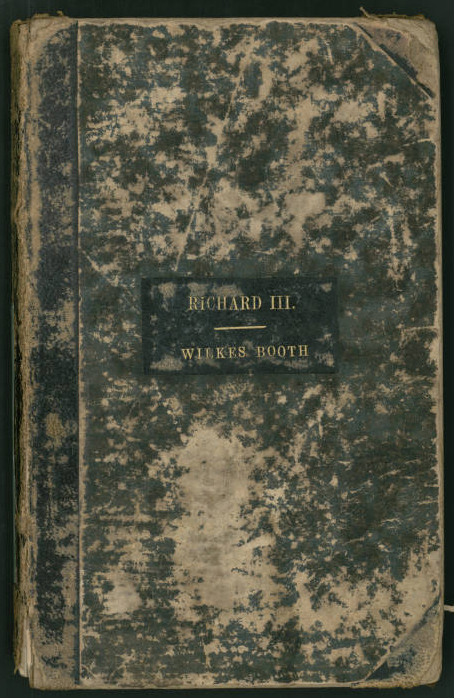 John Wilkes Booth's Richard III promptbook
