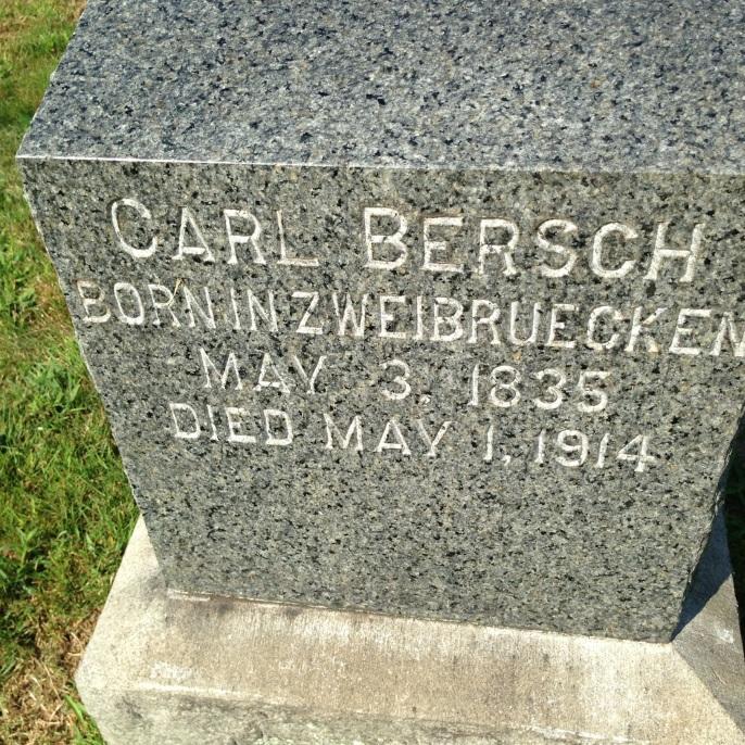 Carl Bersch's grave