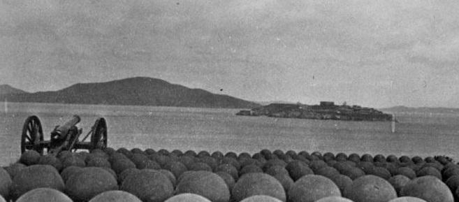 Alcatraz Island circa 1869