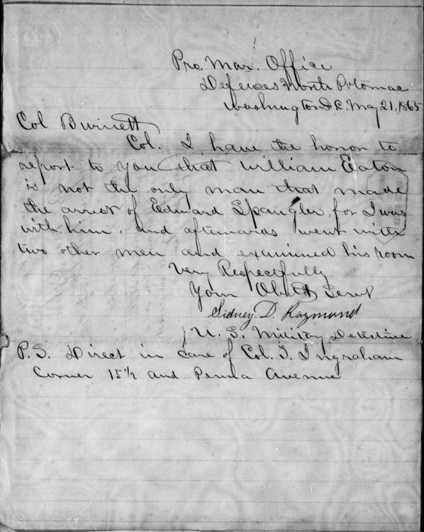 sidney-raymonds-letter-to-col-burnett